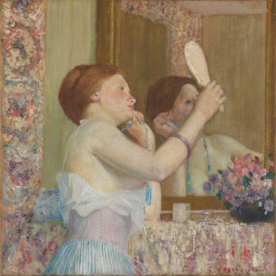 Femeie cu oglinda, 1911