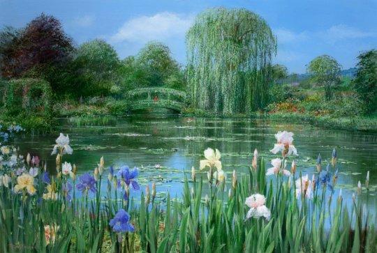 PETER ELLENSHAW (1913-2007) Monet's Garden, Giverny, 1997