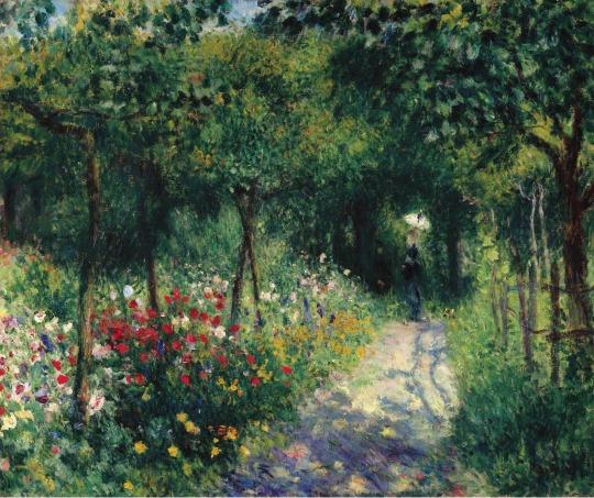 1873Woman at the Garden