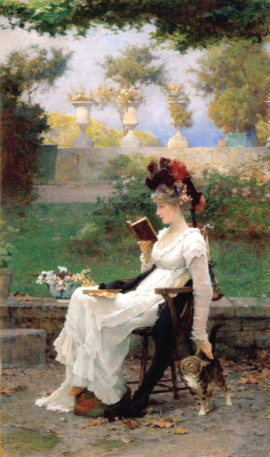 Artistul englez Marcus Stone (1840-1921) w