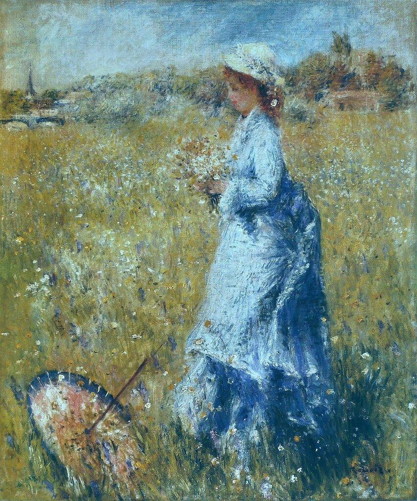 Girl Gathering Flowers, 1872