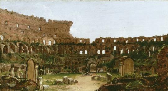 În interiorul Colliseei din Roma