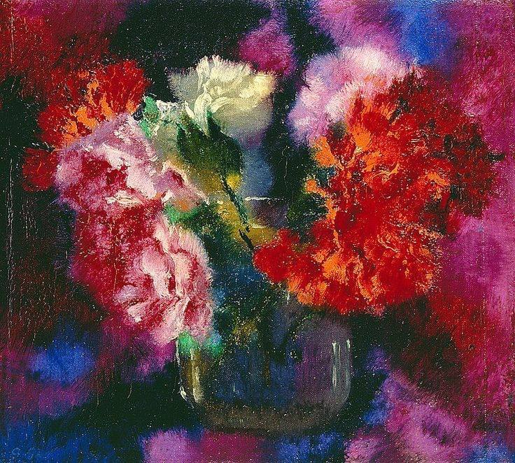 Carnations by Augusto Giacometti - 1925