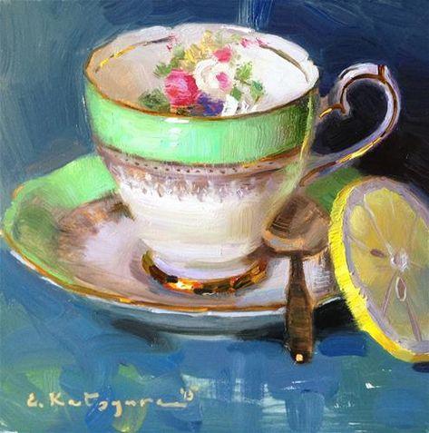 🌺 Dimineața sa reflectat într-o ceașcă de ceai ... zz