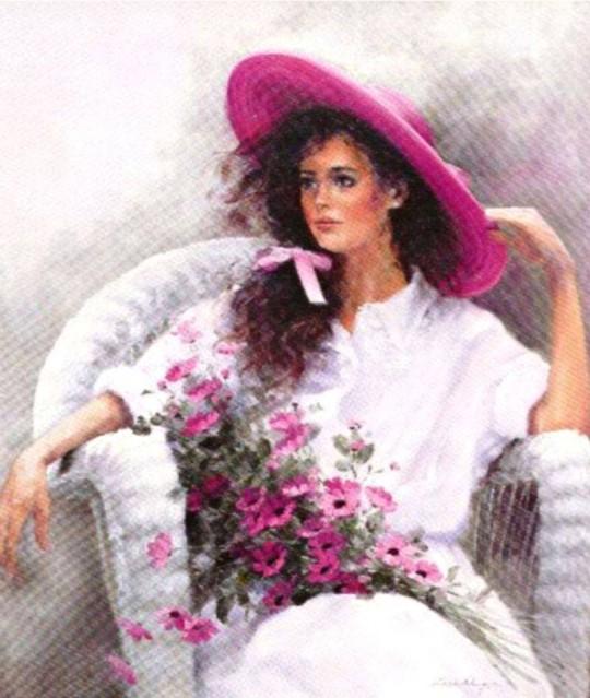 O romantică blândă în pictura Lise Auger