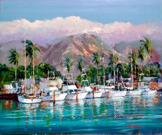 impresionistul britanic Kerry Hallam. b